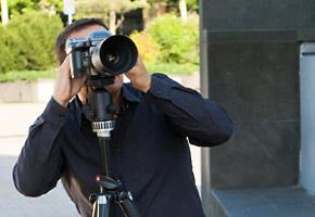 Foto Shooting im Rheinpark mit Hasselblad
