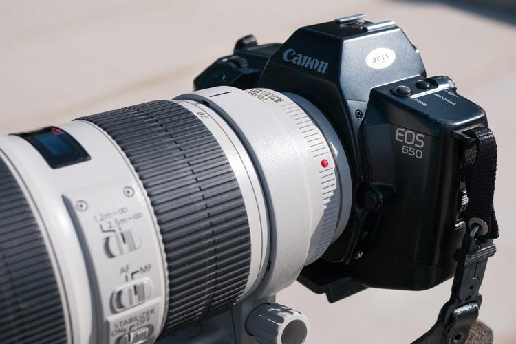 Analogfotografie mit EF Objektiv - Unterschied