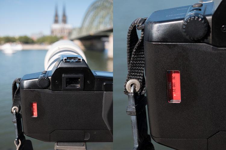 Testaufbau der Kameras am Rheinufer in Köln