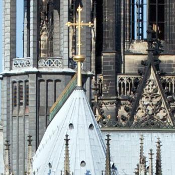 Digitale Detailaufnahme des Kölner Doms