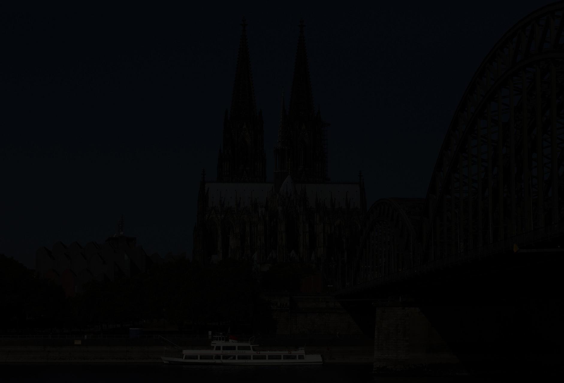 Unterbelichtung, Testfoto am Rheinufer - Digital