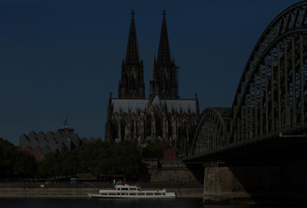 Digitale Testaufnahme Nr. 7 vom Dom und Hohenzollernbrücke