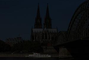 Digitalfotografie Dom und Hohenzollernbrücke, Test Bild digital