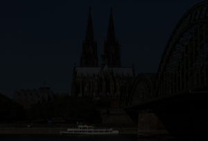 Digitales Test Foto, Unterbelichtung - Bild vom Rheinufer 2016