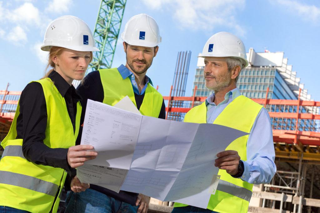 Businessfotografie auf dem Bau der Uni