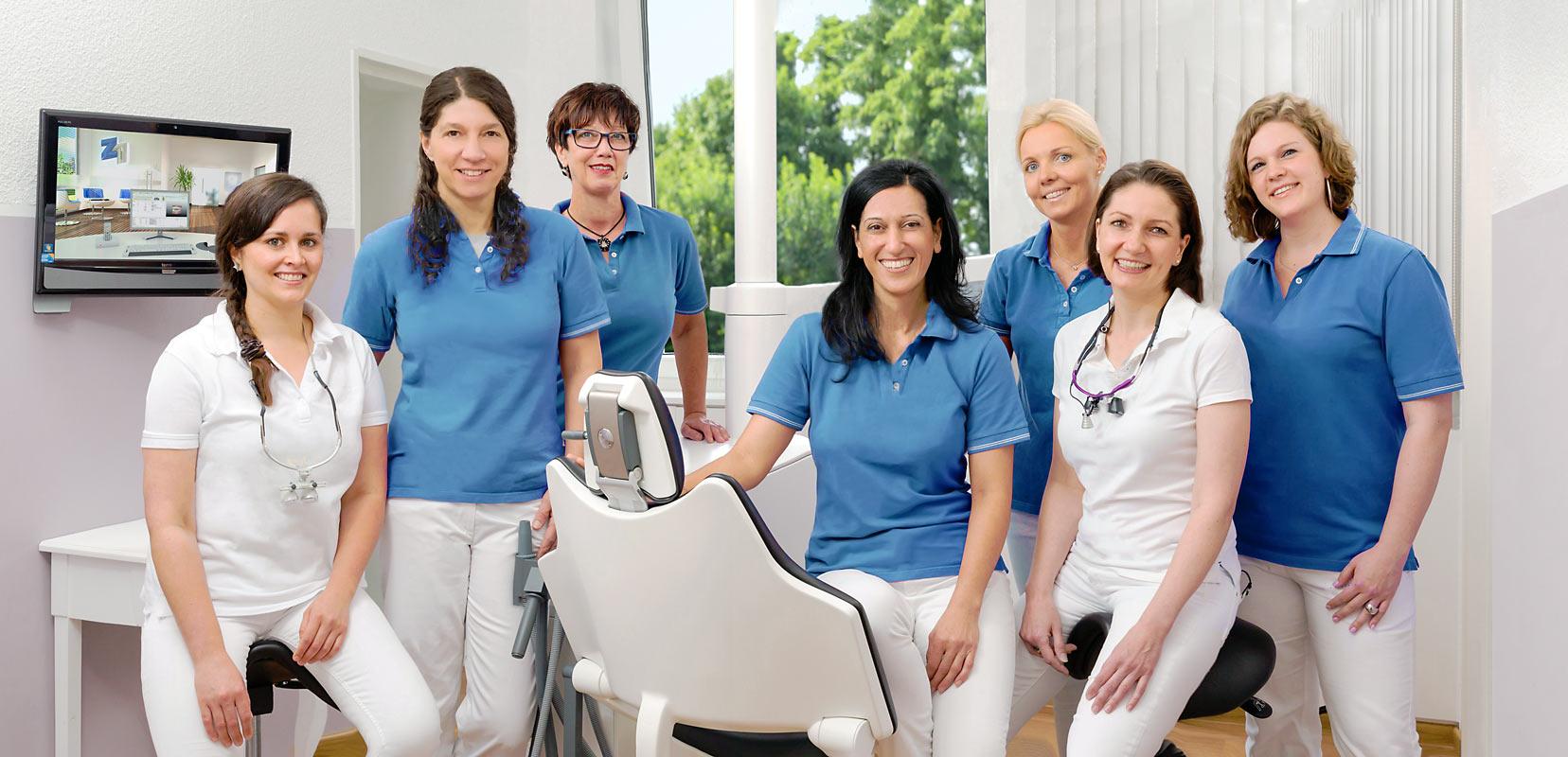 Gruppenfoto Team in medizinischer Praxis