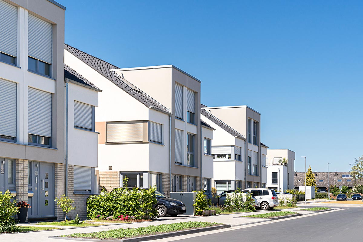 Wohnhäuser Architektur Außenaufnahme