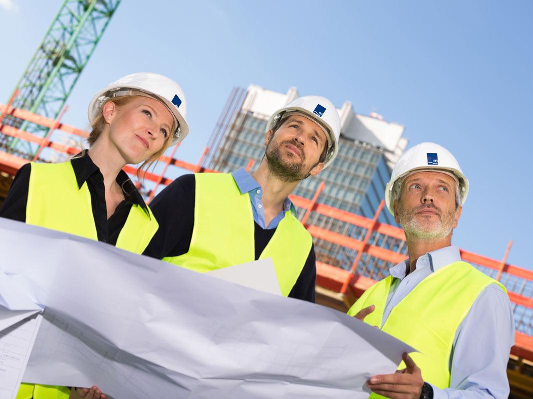 Ingenieure des Bauunternehmens in Köln.