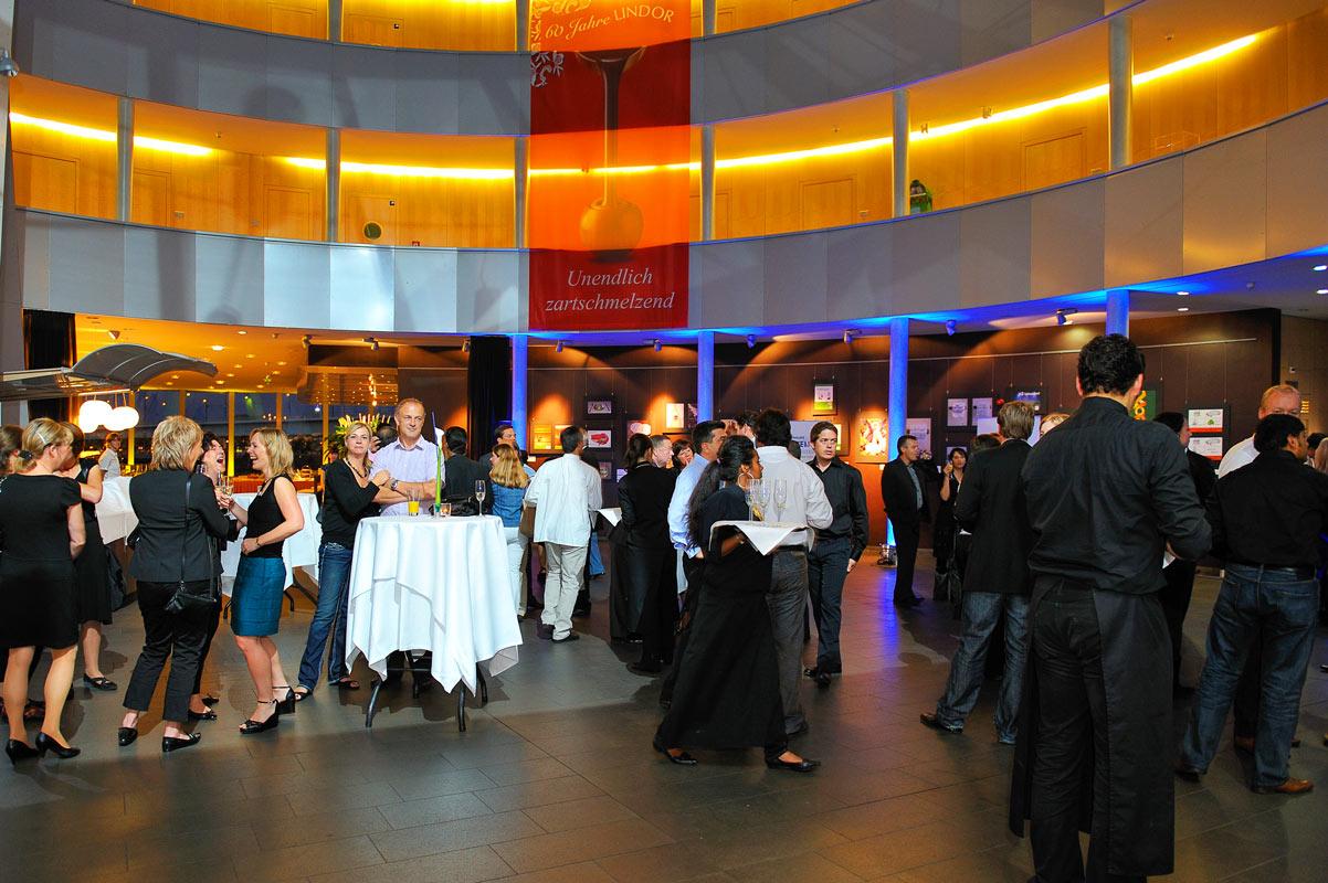 Empfang und Eingangsbereich beim Event im Schokoladenmuseum