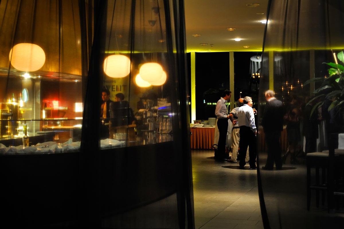 Der Eingang zum Restaurant im Schokoladenmuseum