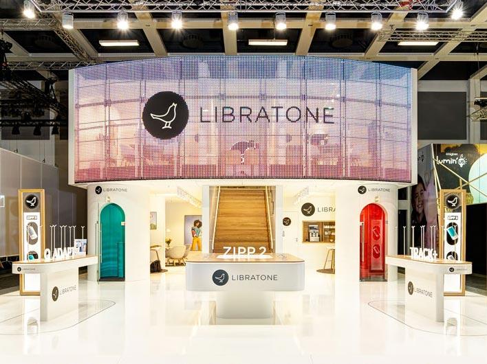 Libratone Messestandfoto des Fotografen der Kölnmesse