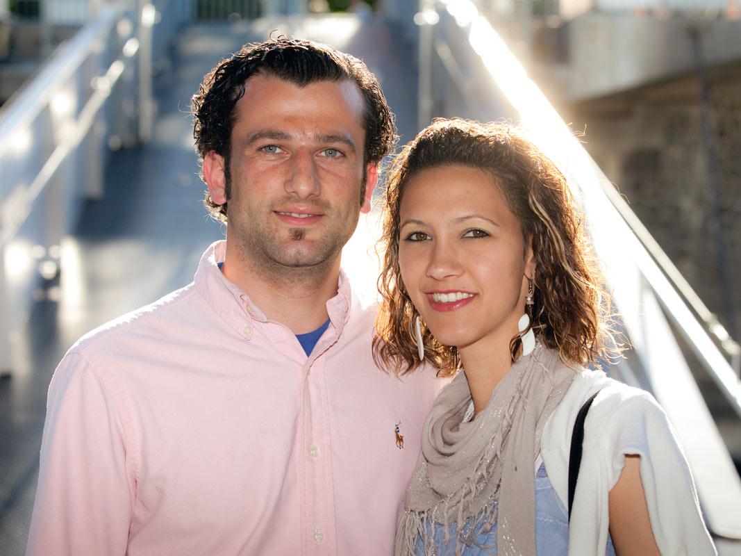 Paar Portrait Gäste beim Event in Köln