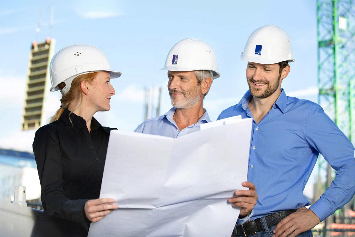 Businessfotografie Baustellen Foto Bauingenieure