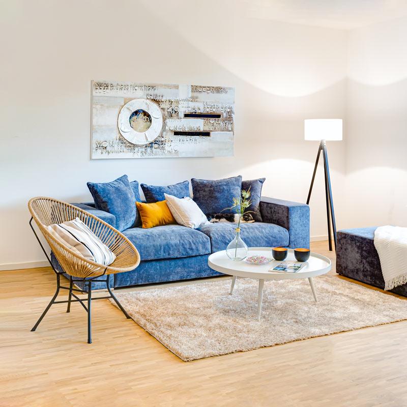 Stuhl, Couch Tisch Immobilien Fotografie
