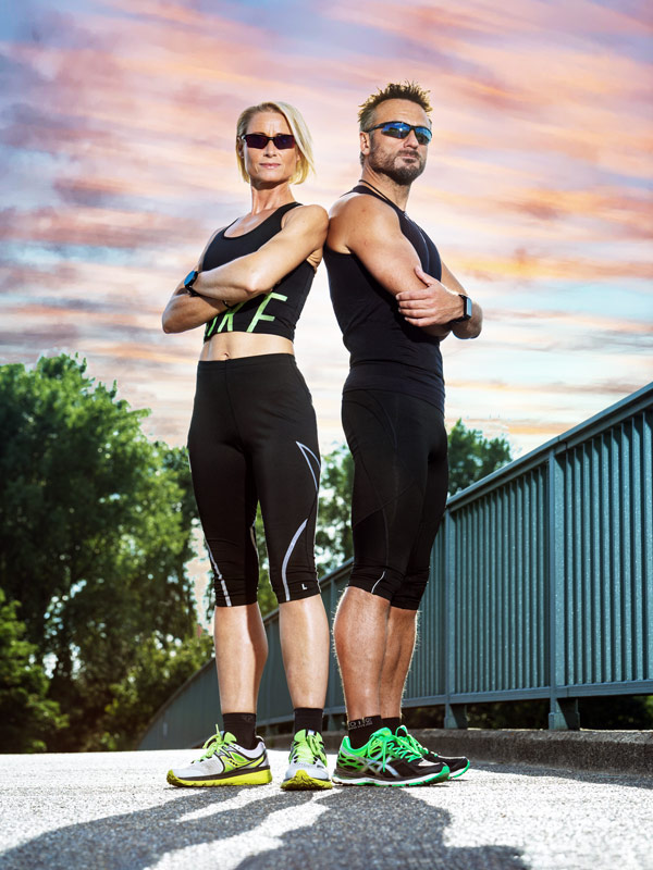 Frau und Mann mit Sonnenbrille in Köln
